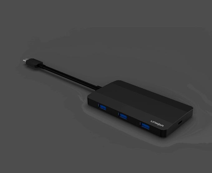 Dual 4K USB-C 7-Port Hub