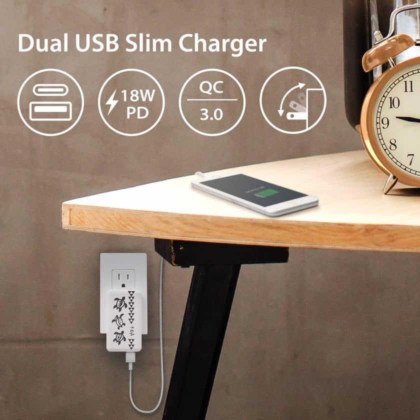 KOA Collection – 18W Dual USB Slim Charger