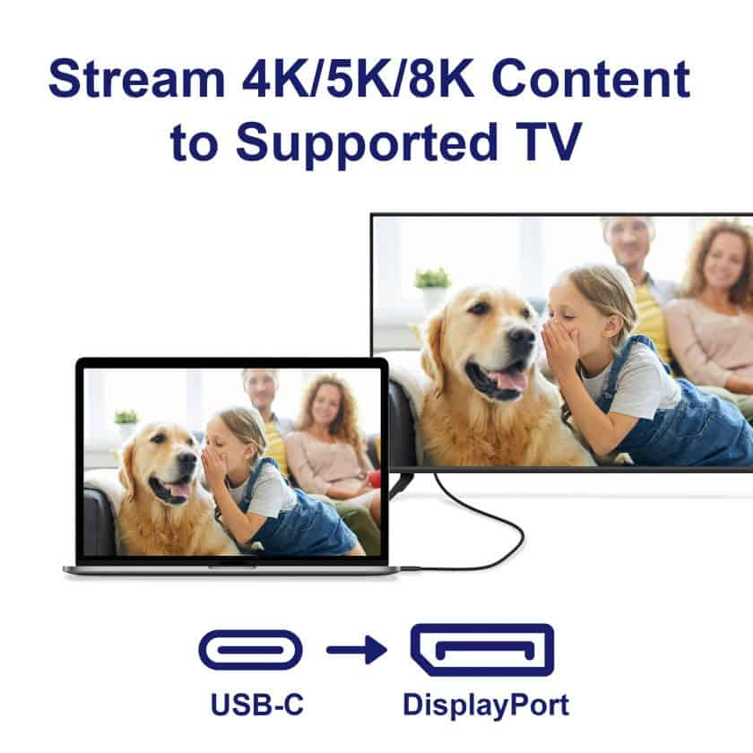 USB-C to DisplayPort 8K Cable
